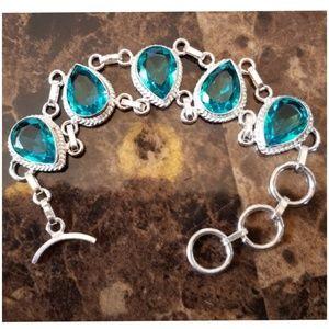 """Jewelry - Blue Topaz Bracelet 7.5"""""""